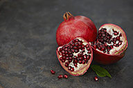 Pomegranate and seeds, close up - KSWF001161