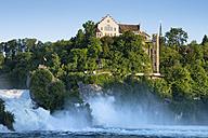 Switzerland, Schaffhausen, View of Rhine Falls with Laufen Castle - ELF000199