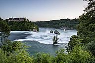 Switzerland, Schaffhausen, View of Rhine Falls with Laufen Castle - ELF000196