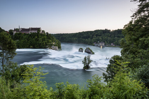 Switzerland, Schaffhausen, View of Rhine Falls with Laufen Castle - ELF000196