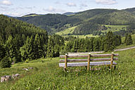 Germany, Baden Wuerttemberg, View of empty bench - MAB000125
