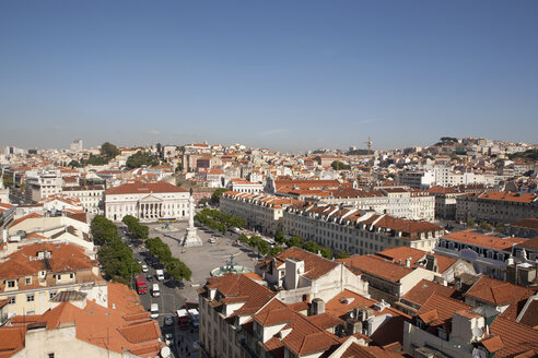 Portugal, Lisbon, View of Rossio Square - SKF001306