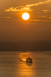 Germany, View of Ferry on Lake Constance at sunset - SH000813