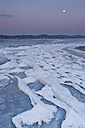 Germany, Field of ice floes during full moon - SH000833