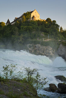 Switzerland, Schaffhausen, View of waterfall near Laufen castle - SH000840