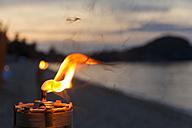 Thailand, Tiki torch, close up - SJF000034