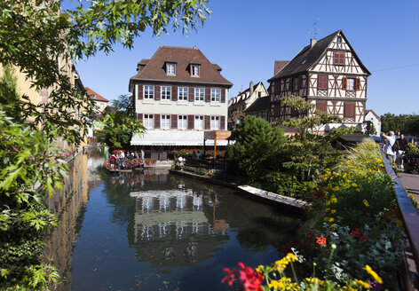 France, Colmar,  View of Venice Petite with restaurant - AM000652