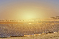 Spain, View of solar park at sunset - SKF001371