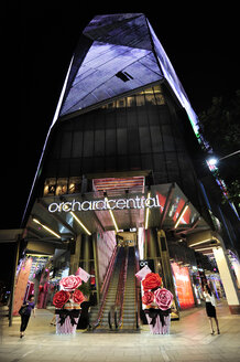 Asia, Singapore, Singapore, Orchard Road, Orchard Central shopping and commercial centre at night - MIZ000437