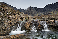 United Kingdom, Scotland, View of Fairy Pool near Black Cuillin Hills - ELF000268