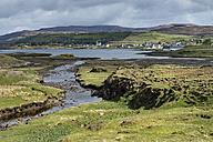 United Kingdom, Scotland, View of Dunvegan Town - ELF000262