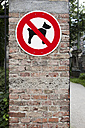 No dogs allowed sign - SKF001466