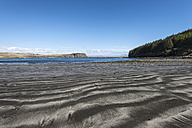 United Kingdom, Scotland, Isle of Skye,  View of Black volcanic sand at beach - ELF000293