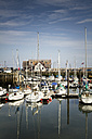 Great Britain, Scotland, Fife, Anstuther, harbour with boats - SBD000171