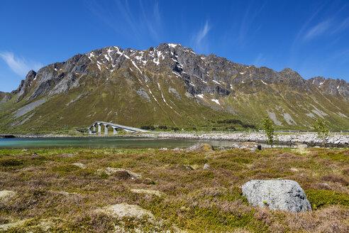 Norway, View of bridge on lofoten - STSF000064