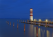 Austria, Burgenland, View of lighthouse at Lake Neusiedl - GF000151