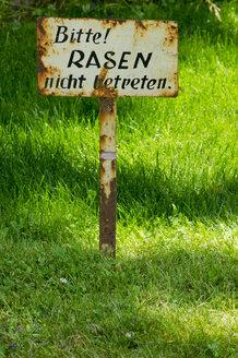 Germany, Rhineland-Palatinate, Kaiserslautern, Warning sign - LVF000161