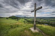 Germany, Baden Wuerttemberg, Constance, Summit cross in Hegau landscape - ELF000309