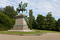 Germany, Bavaria, Coburg,  View of Equestrian statue of Ernest II - AM000775
