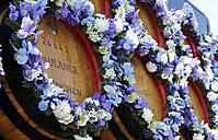 Germany, Bavaria, Munich, Flower wreath at Oktoberfest - LH000240