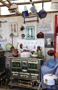 Germany, Bavaria, Munich, Antiques in Auer Dult market - LH000251