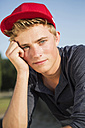 Germany, Portrait of young man in park - GDF000199