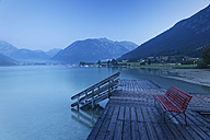 Austria, Tyrol, View of Jetty at Lake Achensee - GFF000196