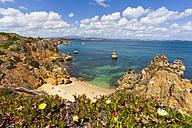 Portugal, Lagos, View of Camilo beach - WDF001914