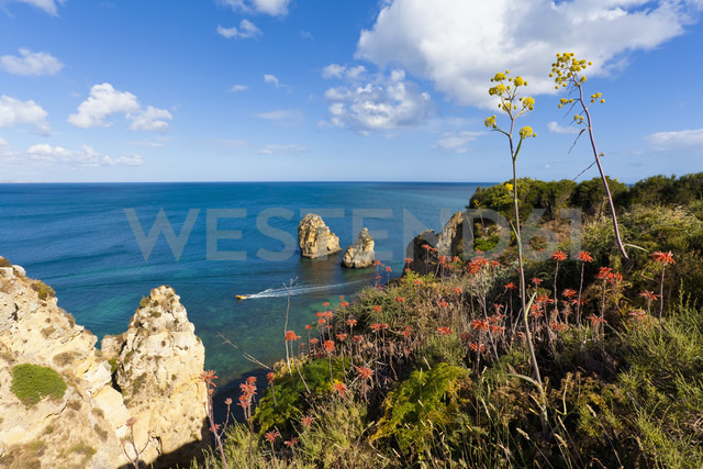 Portugal, Lagos, View of Ponta da Piedade - WDF001913