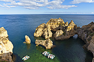 Portugal, Lagos, Boats at Ponta da Piedade - WDF001876