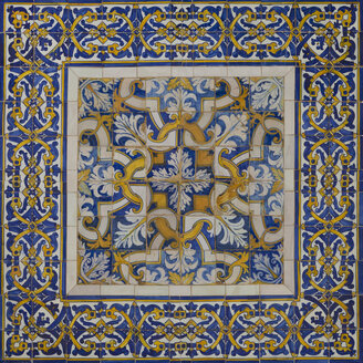 Portugal, Ceramic tilework on house - WD001756
