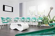 Germany, Brandenburg, Strausberg, Interior of doctors waiting room - FKF000196