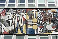 Germany, Berlin, Mosaic at Haus des Lehrers - MIZ000377