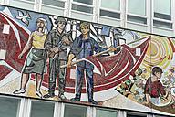Germany, Berlin, Mosaic at Haus des Lehrers - MIZ000378