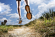 Germany, Bavaria, Mature Man jogging - MAEF007142