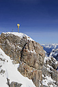 Germany, Bavaria, View of summit cross at  Zugspitze Mountain - LHF000275