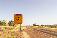 Australia, Western Australia, Road sign at Wyndham - MBEF000667