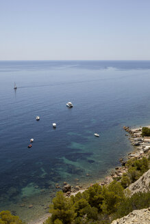 Spain, View of boats at Little bay - TKF000146