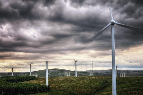 United Kingdom, Scotland, View of wind turbine at Dunbar - SMAF000157