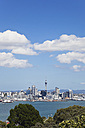 New Zealand, View of Auckland skyline - GWF002385