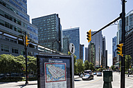 Canada, British Columbia, Vancouver, Streetmap of downtown - FO005229