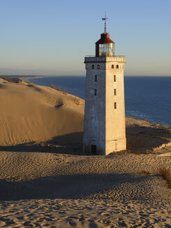 Denmark, View of Rubjerg Knude Lighthouse at North Sea - HHEF000045