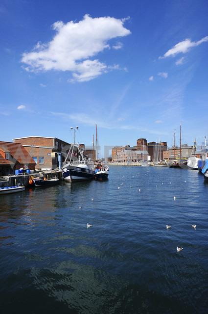 Germany, Mecklenburg Vorpommern, Fisherman pier of Wismar harbour - HOH000214