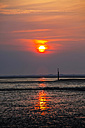 Germany, View of low tide at north sea during sunset - JTF000482