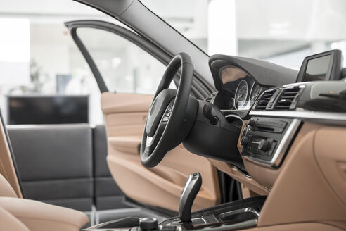 At the car dealer, Interior of new car - MLF000118