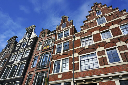 Netherlands, Amsterdam, Prinsengracht, typical historic buildings - HOHF000232