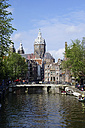 Netherlands, Amsterdam, view to St Nicholas - HOHF000228