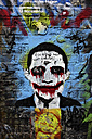 Netherlands, Amsterdam, wall painting 'The joker' - HOH000227