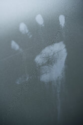 Imprint of child's hand on car varnish, close-up - MYF000013