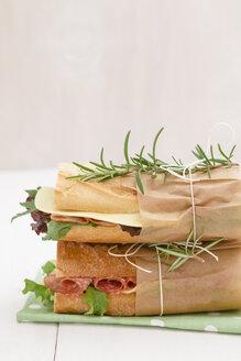 Baguette sandwiches, close up - ECF000341